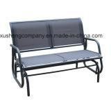Banco al aire libre del jardín de Seater de las piernas 2 del metal