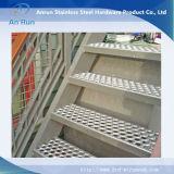 Listón antideslizante perforado de la placa antideslizante para el suelo de la escalera