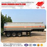 De 3 essieux de camion-citerne remorque semi pour le transport d'huile de table