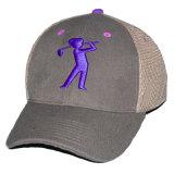 カスタムFlexfitのトラック運転手の帽子の屈曲は印刷された網の帽子に合った