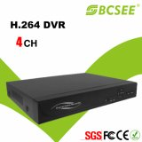 Metal 4CH D1 P2p H. 264 DVR de red de seguridad con HDMI