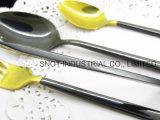 Jeu de couteau d'acier inoxydable et de vaisselle plate de fourche