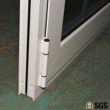 Doppeltes Glas mit Rasterfeld, weißer Farben-Puder-überzogener thermischer Bruch-Aluminiumprofil-Flügelfenster-Tür K06024