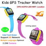 3G montre intelligente de traqueur des gosses GPS avec l'appareil-photo de 2.0m (D18)