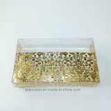 Caja de plástico de PVC para Cosméticos con el sellado de oro