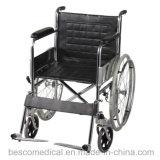 Cadeira de rodas manual de aço chapeada cromo de dobramento (BES-WL001A)