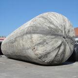 Nave de goma que lanza el saco hinchable marina, balón de aire marina, bolso inflable de los rodillos para el remolque del vaso hacia fuera y tirón para apuntalar, para salvar y elevación pesada