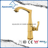 New Bronze Long Neck Kitchen Faucet de alça única