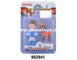 """Bambola della più nuova dei capretti di giocattoli del cane plastica stabilita 3 dei giocattoli """" (902937)"""