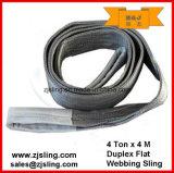 6 imbracatura di sollevamento duplex della tessitura del tester X 2000kg
