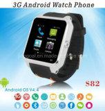 S82 3G Dubbele GPS WiFi van Smartwatch van de Kern met de Telefoon van het Horloge van de Camera