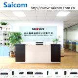 Saiocm (SCSW-03021L) 100Mbps 1 Fx+2 Feのサージ電圧機能に対するの産業管理対象外の単一のファイバー20KMの12V~36Vネットワークスイッチ