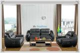 Mobília superior do sofá do couro de grão de 4 Seater (M0406-1)