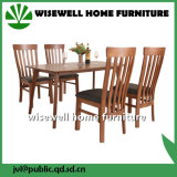 Cadeira de jantar em madeira de carvalho no assento PU (W-DF-0682)