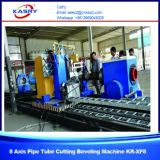 Macchina di smussatura di taglio del plasma di profilo del tubo d'acciaio di CNC per i tubi rotondi ed il tubo quadrato Kr-Xf8 di /Rectangular