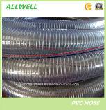 """Труба шланга 1 """" 2 """" всасывания шланга спирали весны стального провода PVC пластичная"""