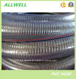 "PVCプラスチック鋼線のばねの螺線形のホースの吸引のホース1 "" 2 """