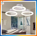 Modern LED Round Chandeliers Light with 4-Ring Design