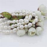 ポテトおよび米の形47inchesの長い鎖の真珠のビードのネックレス