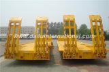 3-assen de Gele Verwijde Lage Semi Aanhangwagen van het Bed met de Ladder van de Lente