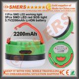 방수 재충전용 USB LED 야영 손전등 Sos 가벼운 3.7V2200mAh Li 이온 건전지