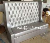 (SD-4009) Sofà di cuoio di legno della cabina dell'hotel della mobilia moderna del ristorante