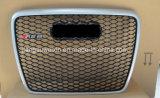 """Silver Car avant Grill Grille (Logo noir) pour Audi RS6 2005 à 2012 """""""