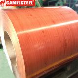 Bobine en acier galvanisée enduite d'une première couche de peinture en bois PPGI de Shandong