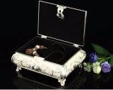 Коробка ювелирных изделий типа ларца Isabella покрынная серебром для паковать побрякушек