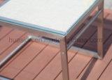 Hoogste Chaise van Textilene van het Frame van het roestvrij staal Zitkamer die met Lijst aanpassen