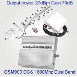 Impulsionador móvel duplo St-1090b do sinal da DCS 900/1800MHz da G/M da faixa