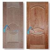 Pelli del portello modellate laminato di legno dell'impiallacciatura HDF del teck/ciliegia di colorazione