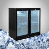 Réfrigérateur arrière de barre avec la porte en verre