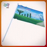 스포츠 게임 광저우 공장을%s 관례에 의하여 인쇄되는 로고 손 깃발