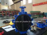 Desulfurization (D7A1X-10/16)のための弾力性のあるSeated Fully Rubber Coated Lining Butterfly Control Valve