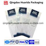 Подгонянный оптовой продажей прозрачный пластичный мешок одежды с верхней частью застежки -молнии