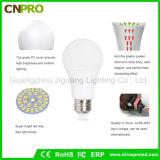 Überzogene Plastikbirne der Qualitäts-SMD5730 LED 9W des Aluminium-LED