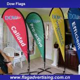 Bandeira ao ar livre da curva do Teardrop da bandeira de praia de Hotsale para o indicador