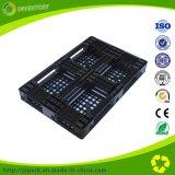 Паллеты черной Одиночн-Стороны HDPE цвета Cross-Section пластичные