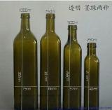 250ml 500ml 1000mlの帽子が付いている正方形のオリーブ油のガラスビン