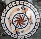 四捨五入する大理石のフロアーリングのWaterjet円形浮彫り(モザイク117)を