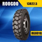 O caminhão radial qualificado do pneumático 13r22.5 do caminhão de China preço barato novo monta pneus 13r22.5
