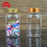 Frascos de vidro transparentes desobstruídos da cápsula