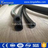 Liso de la cubierta flexible de alambre de acero reforzado de goma industrial hidráulico Aceite Manguera SAE100r1at