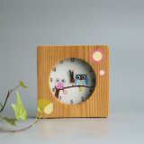 Horloge d'alarme normale de pin avec l'animal Screenprinted