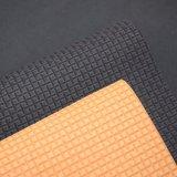 マット袋のハンドバッグLeatheriodのための表面によって浮彫りにされる人工的なPUの革