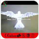 3D 크리스마스 독수리 조각품 빛