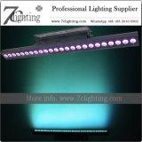 Illuminazione dello studio della barra di colore di DMX 24 RGBWA LED