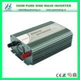 inversor puro da potência de onda do seno de 500W DC12/24V AC220V para o sistema solar Home (QW-P500)