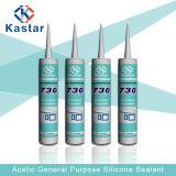 Sellante constructivo del silicón del claro RTV del agua de las fuentes (Kastar730)